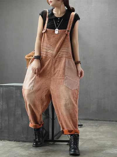 orange bib overalls for women