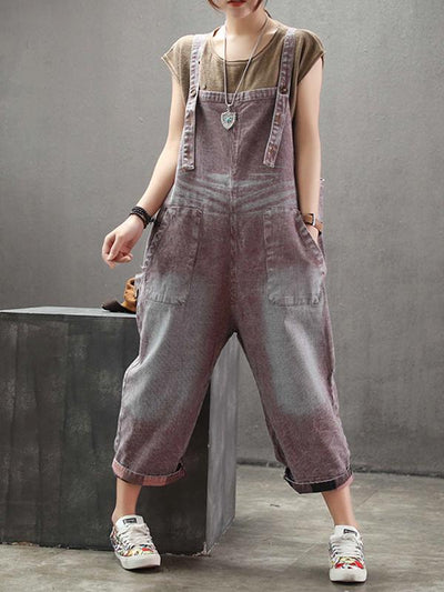 cotton dungarees for women in red