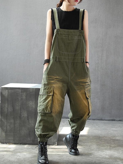 dark denim dungarees for women