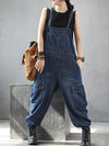 blue denim bib dungarees for women