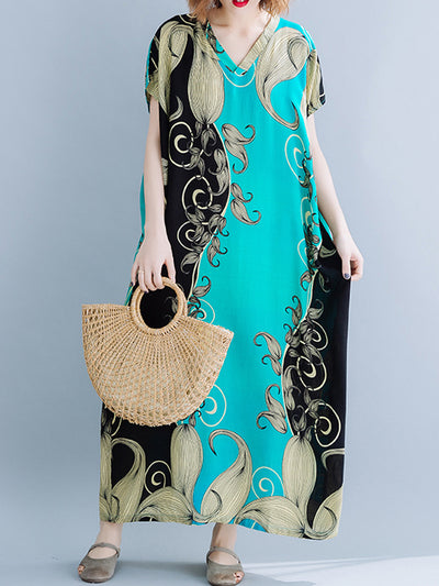 S Wave Curvy Kaftan Dress