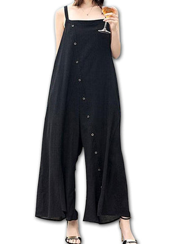Holiday Button Jumpsuit