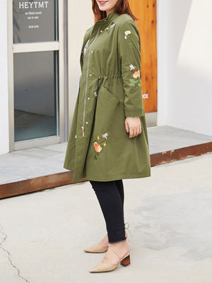 Kate Floral Coat with Pockets