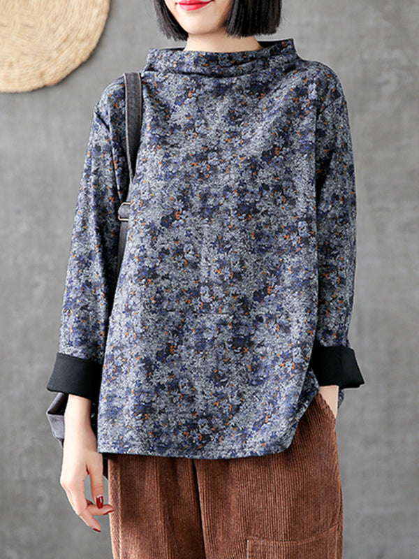 Eloise Half Floral Printed Basic Top