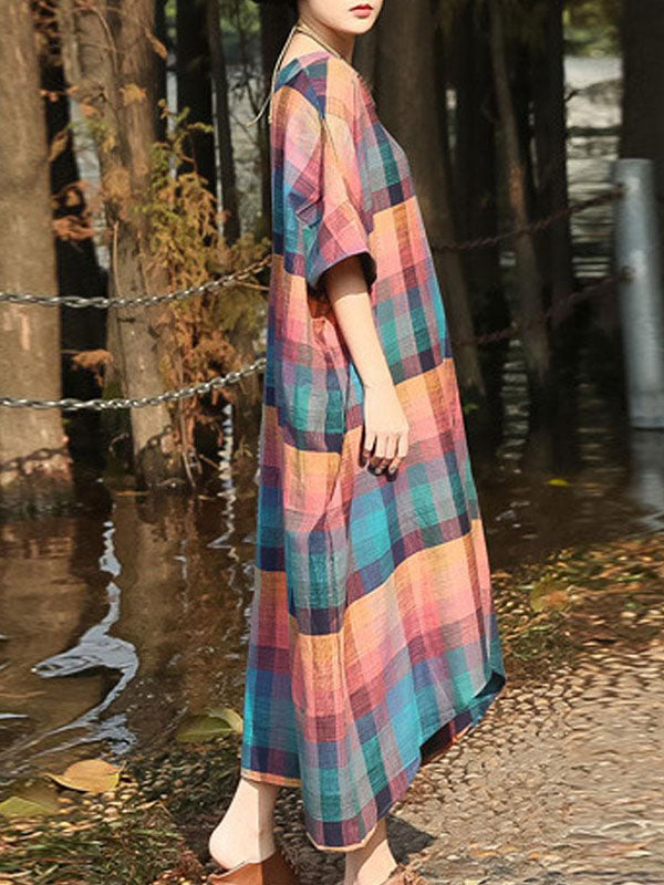 Illusionist Block Stripe Maxi Dress