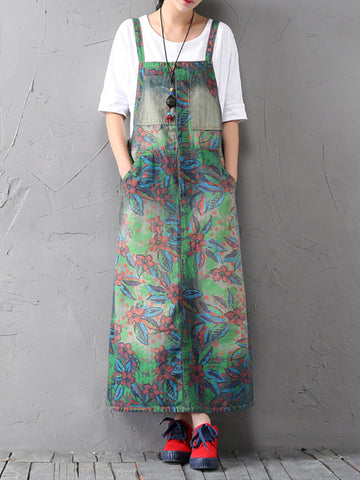 Thorn Floral Overall Dress