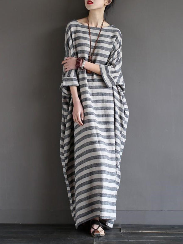 Awning Stripe Kaftan Dress