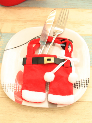 Christmas Top and Bottoms Cutlery Bag