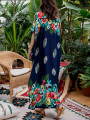 Russian Roselets Kaftan Maxi Dress
