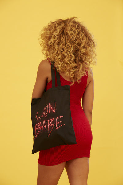 LION BABE NEON TOTE BAG
