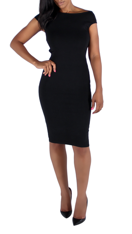 Adriana CrissCross Strap Back Midi Dress