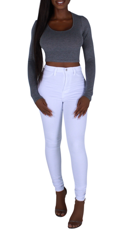 Ashley Long Sleeve Crop Tee