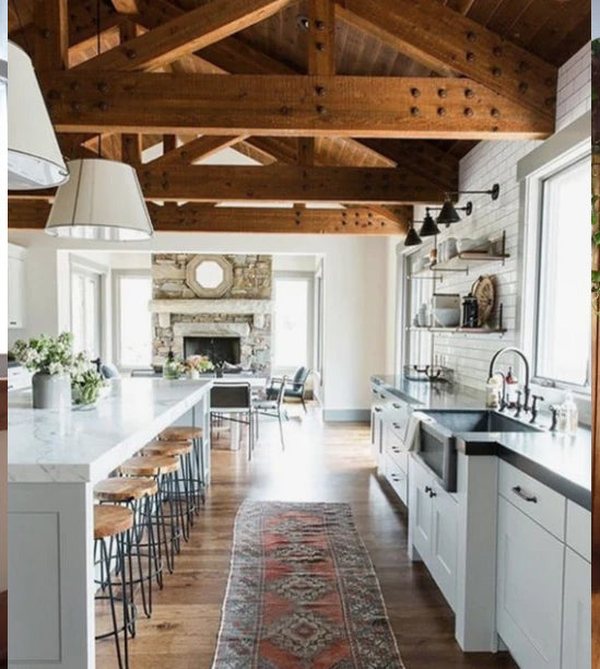 7 Stunning Kitchens Featuring Vintage Runners