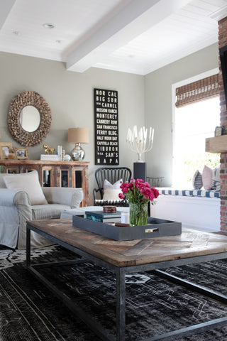Style Me Pretty - Newport Beach Home Tour - Overdyed Rug