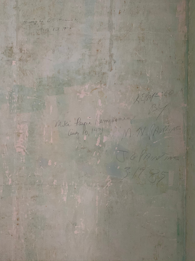 Signatures on the wall