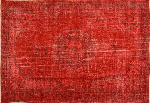 Cara Overdyed Rug Red