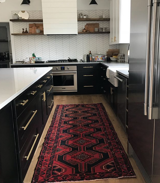 Vintage Rug in Kitchen
