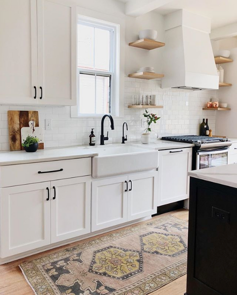 7 Stunning Kitchens Featuring Vintage Runners Swoon Rugs