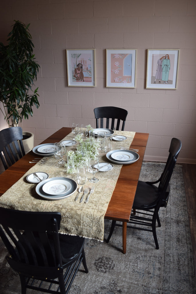 Sustainable 2nd hand tablescape