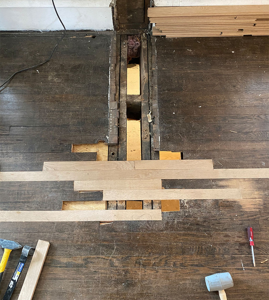 Patching in hardwood floors to match