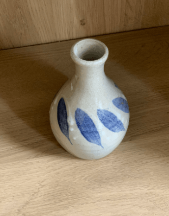 Mini Gray Stoneware Vase