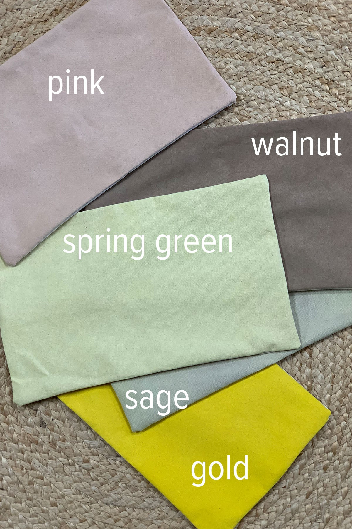 Organic hand dyed pillow covers