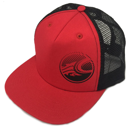 Cabrinha Snapback Trucker Cap Circle Logo - Red - Singapore