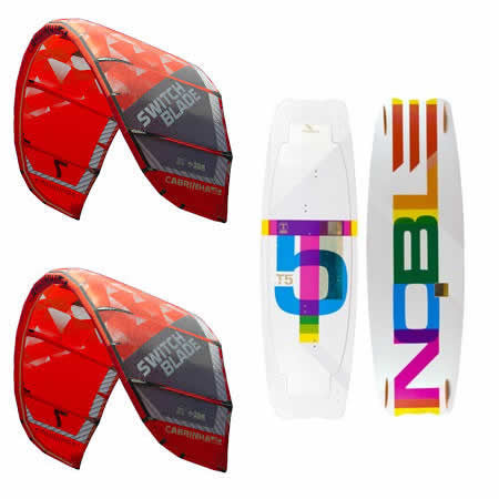Cabrinha 2015 SWITCHBLADE 8m and 10m Kites with 1 Bar and Nobile T5 134 Kiteboard - USED - Singapore