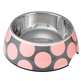 Fuzzyard Easy Feeder Bowl - Bubblelious Pink