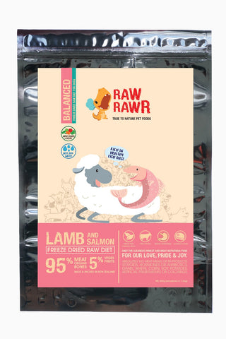 Raw Rawr Freeze Dried Balanced Salmon & Lamb