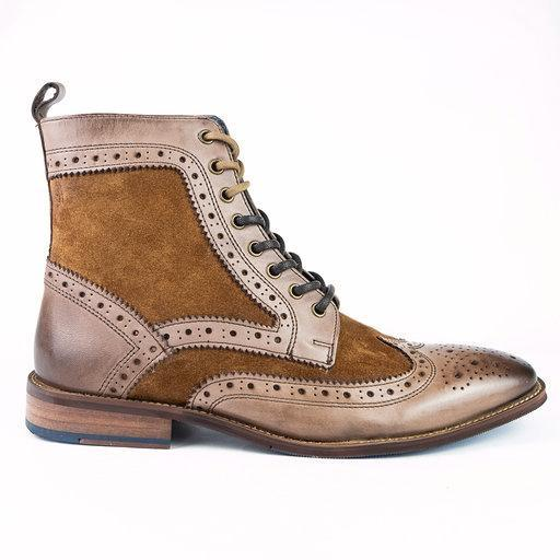 Tan / Black / Brown Men Women Leather Shoes & Boots - Amen Shoes