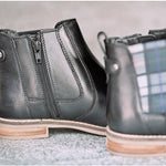 Amen Ladies Black Check Slip On Boot - Amen shoes