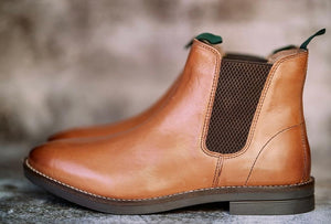 Catesby Tan leather Chelsea boot - Amen shoes