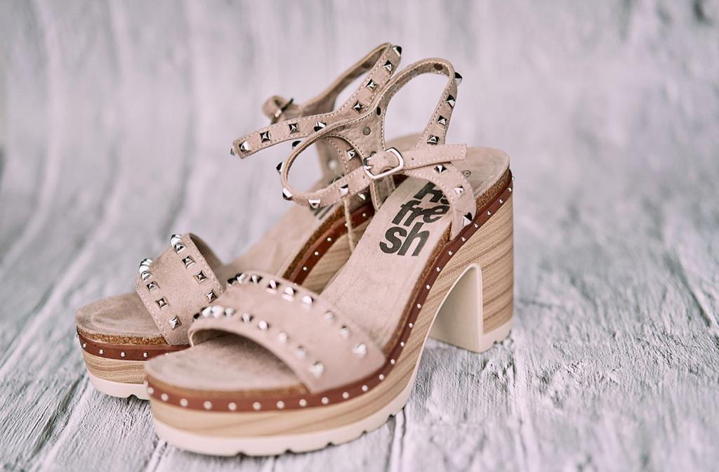 Refresh Women's Wedge Sandals - Taupe - Amen shoes