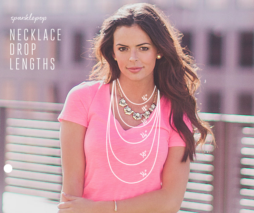 Sparklepop Necklace Length Sizing Guide