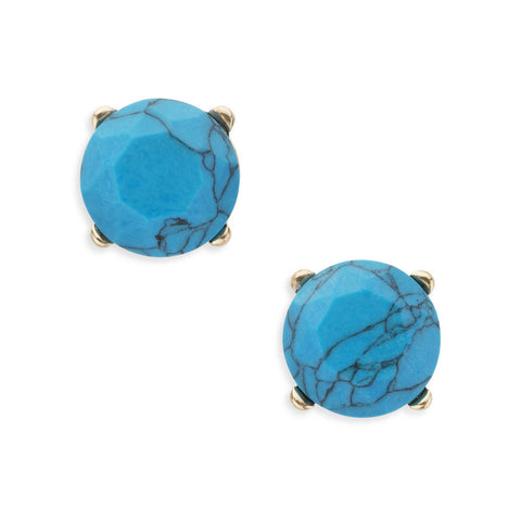 Turquoise Blue Natural Stone Studs