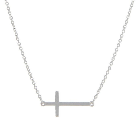 Dainty Silver Cross Necklace