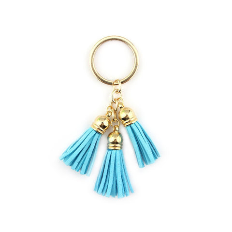 Tassel Keychain in Light Blue