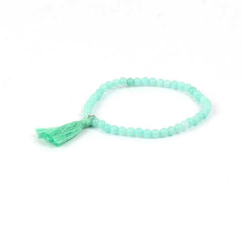 Mini Bead Bracelet - Matte Mint