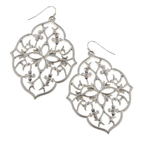 Filigree Earrings in Silver
