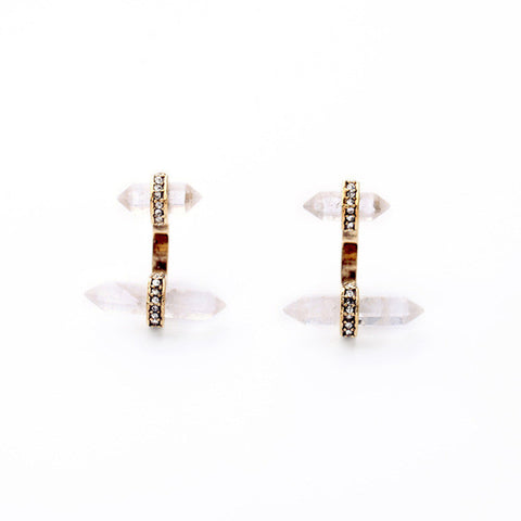 Natural Quartz Earring Jackets