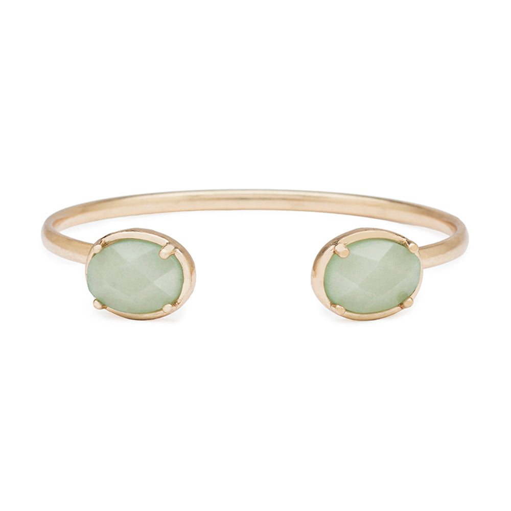 Oval Stone Bracelet in Mint