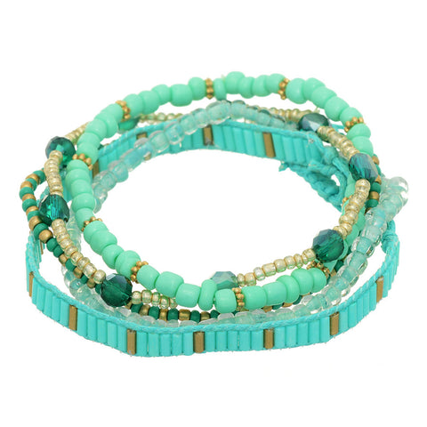 Mint Sprig Bracelet 4 Piece Set