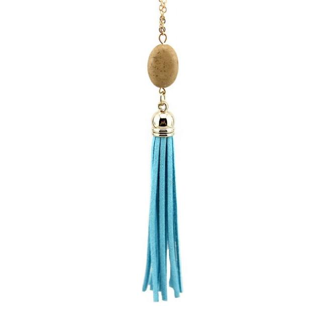 Everyday Stone Tassel in Light Blue
