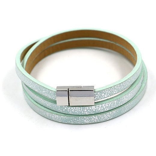 Metallic Wrap Bracelet in Mint
