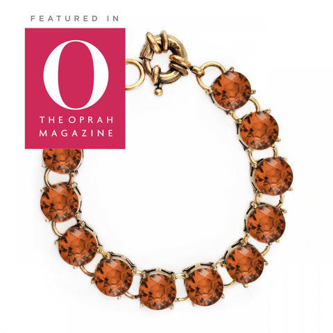 Vintage Studded Bracelet in Orange