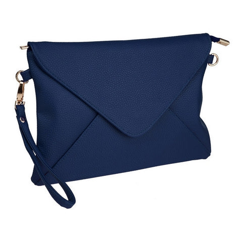 Envelope Clutch in Navy