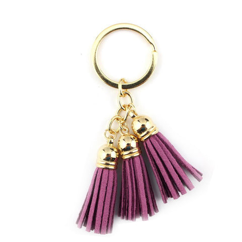 Tassel Keychain in Light Purple
