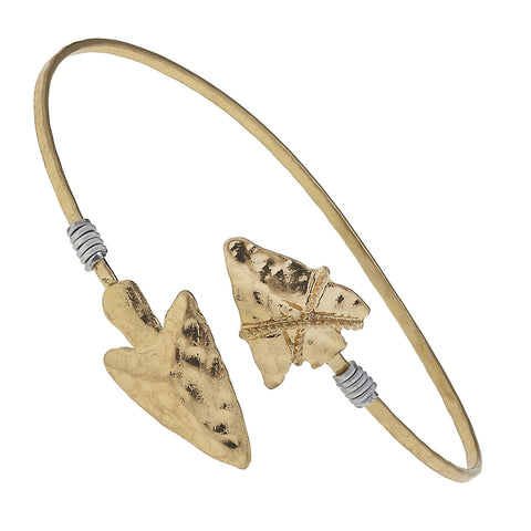Gold Arrowhead Wrap Bangle