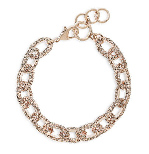 Mini Pavè Rose Gold Chain Link Bracelet